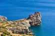 Rocky coast at south part of Crete island