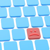 Sad smile keyboard button composition