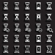 Sand glass Icons & Symbols.