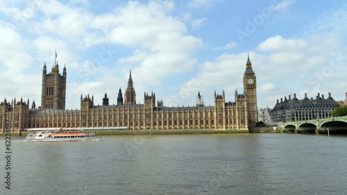 London. Westminster Palace, timelapse