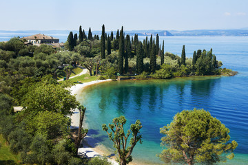 Garda lake resort in Italy