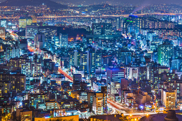 Seoul, South Korea cityscape