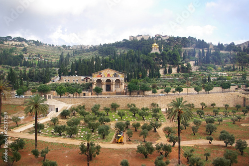 Papiers peints Autre Church of all nations and Mount of olives