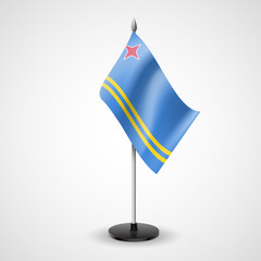 Table flag of Aruba