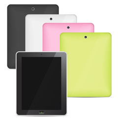 Vector tablet computer color set