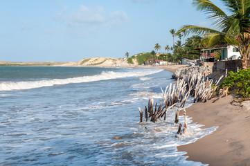 Beach at high tide, Pititinga, Natal (Brazil)