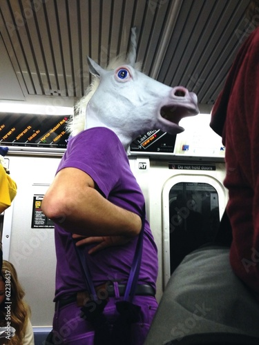 horse in the subway
