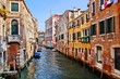 View down the picturesque canals of Venice, Italy