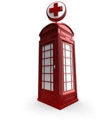 Box telefonico con simbolo di soccorso
