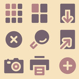 Image viewer web icons retro color series