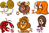 horoscope zodiac signs set