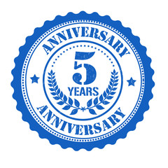 5 years anniversary stamp
