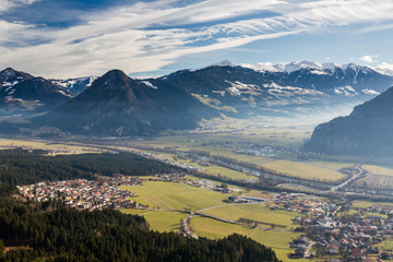 Ziller valley meets Inn valley and villages