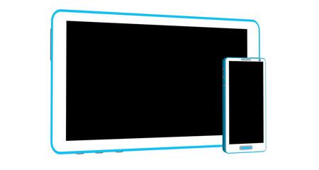 Smartphone et tablette tactile assortis