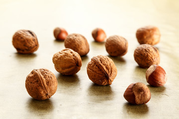 nuts and hazelnuts