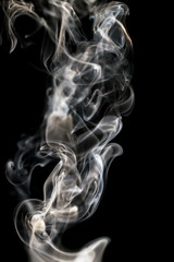 smoke on a black background