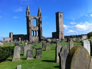 Cementerio de Saint Andrews en Escocia