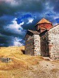 armenian church stNding in the field