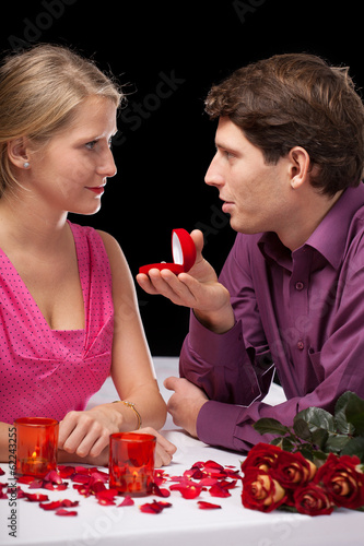 Proposal in restaurant