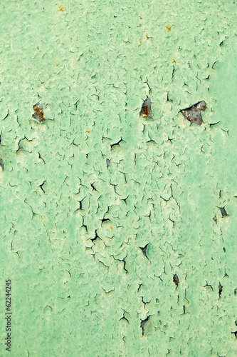 background of rusty green metal