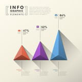 abstract pyramid chart infographics