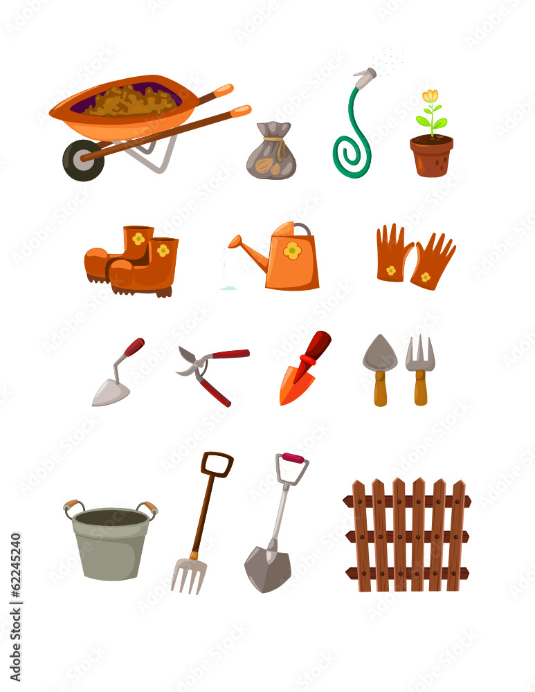 Garden tools wall sticker wall stickers for Childrens gardening tools new zealand