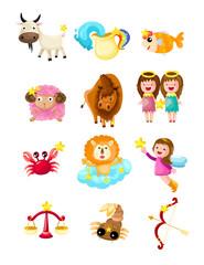 set of zodiacs sign