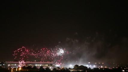 Fireworks in reverse night video