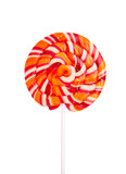 Lollipop candy isolated on white background