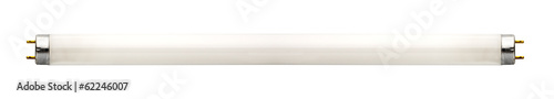 Fluorescent lamp isolated on white