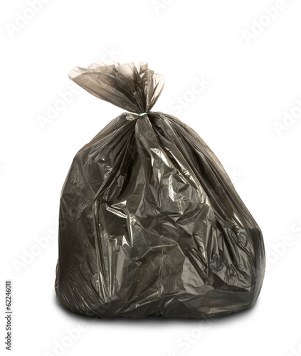 Litter pack on white background