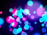 color circles bokeh overlay