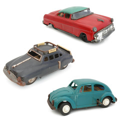 Voitures jouet en fer blanc - Tin toy cars