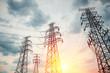 canvas print picture - high voltage transmission pylon