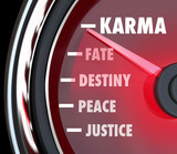 Karma Measurement Speedometer Level Track Your Good Luck Fate De