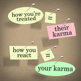 Karma How Youre Treated Others You React Treatment Saying