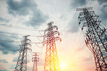 high voltage transmission pylon