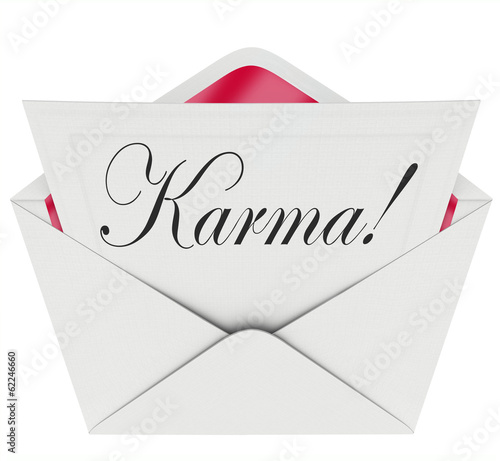 Karma Invitation Letter Message Open Envelope Good News Luck