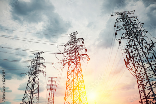 high voltage transmission pylon