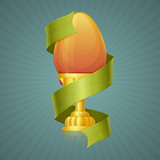 Egg Cup With Ribbon