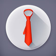 Necktie long shadow vector icon