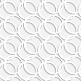 Abstract white geometric seamless pattern with circles