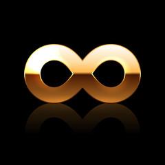 Golden Infinity Symbol