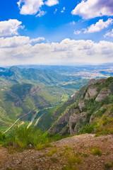 View of valley from monastery Montserrat,Spain