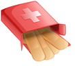 Plasters in a red box