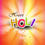 vector illustration happy holi for colorful indian festival cele