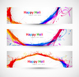 Beautiful banner and header set design with colorful colours spl