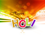 Indian festival Happy Holi splash bright colorful celebrations v