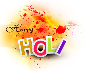 Beautiful abstract bright colorful holi card festival background