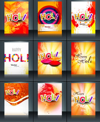 Beautiful background of indian festival collection colorful set
